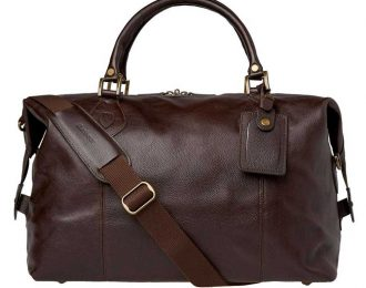 Barbour Leather Medium Travel Explorer