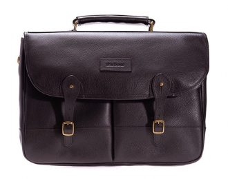 Barbour Leather Brief Case