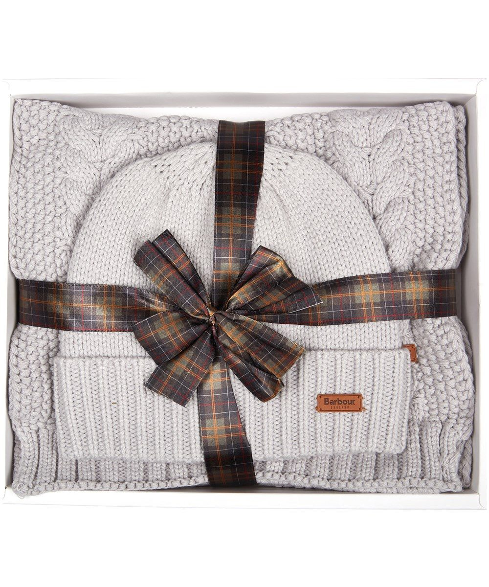 Barbour Cable Hat and Scarf Set  d5aa58dfcaf0