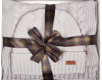 Barbour Cable Hat and Scarf Set