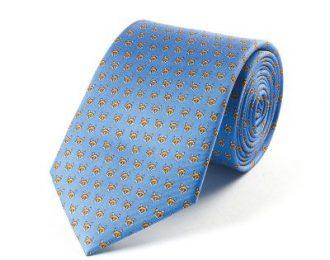 Bryn Parry Foxes Blue Silk Tie