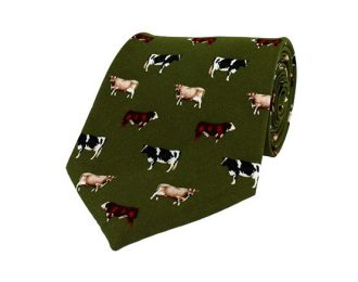 Hoggs of Fife Silk Country Tie – Cows