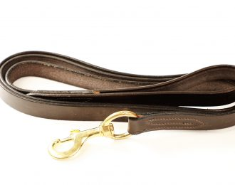 Berney Leather Lead with Trigger Clip
