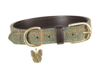 Digby and Fox Tweed Dog Collar