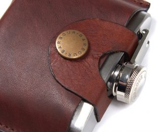 Barbour Hinged Hipflask
