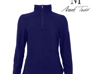 Ladies half zip fleece